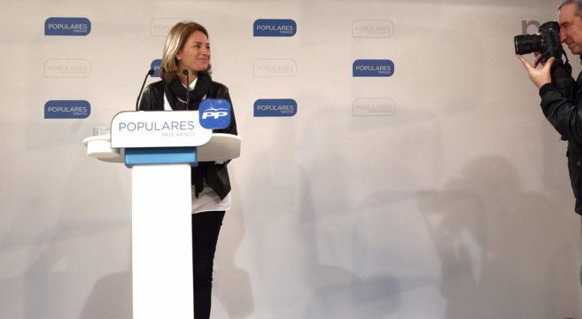 La presidenta del PP vasco, Arantza Quiroga.