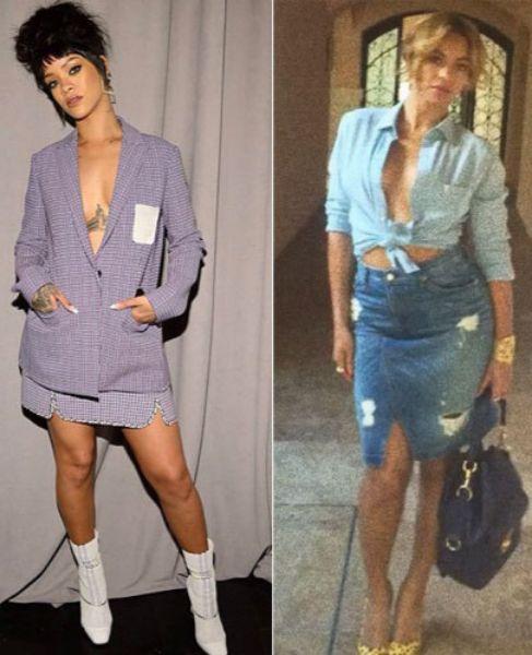 Rihanna (i) y Beyoncé, en fotos de sus respectivos Instagram.