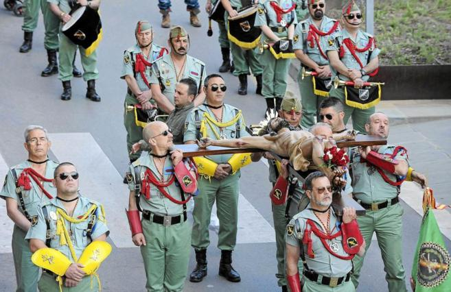 Los legionarios, en la procesión de hace dos años en Mataró