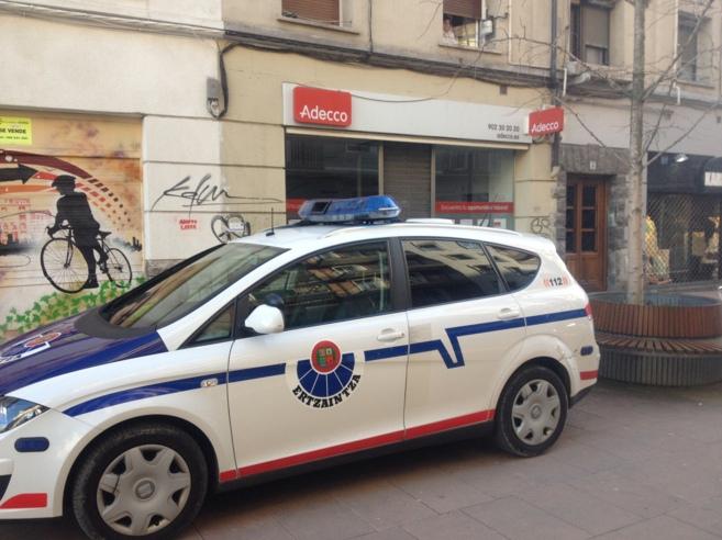 La calle Ricardo Buesa del centro de la capital vasca en la que han...