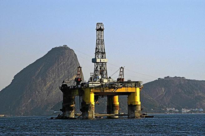 Plataforma petrolífera al sureste de Sao Paulo, en Brasil