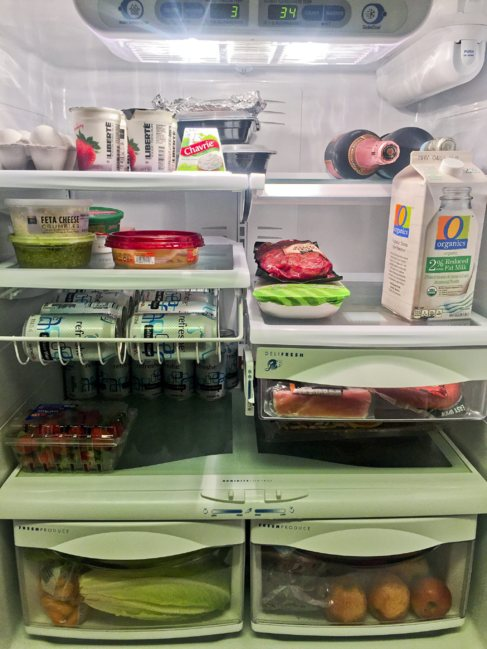 El frigorífico de Olivia Hines, en la actualidad, después de crecer...
