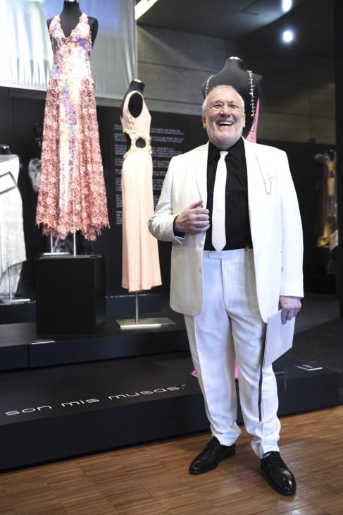 Pedro del Hierro en la inauguración de la exposición 'Color,...