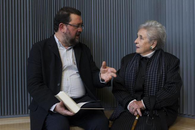 Jesús Rubio y Pilar Palomo, durante la presentación del libro.