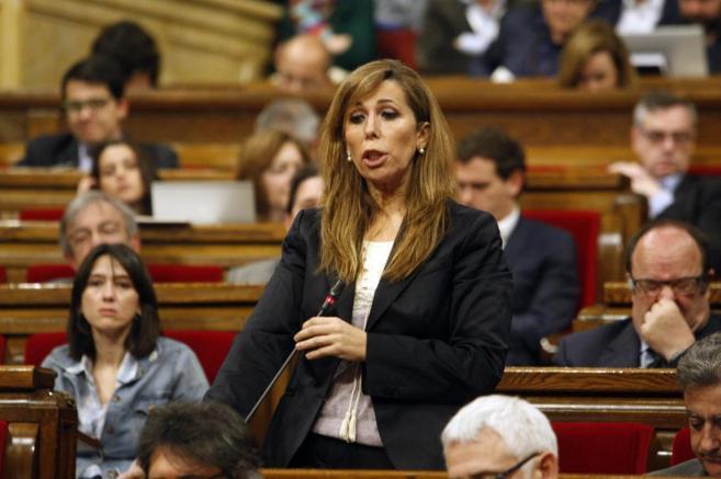 Alicia Sánchez-Camacho en una sesión del Parlament.