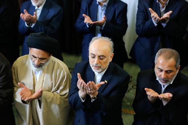 El presidente de la Organización Atómica Iraní, Ali Akbar Salehi,...