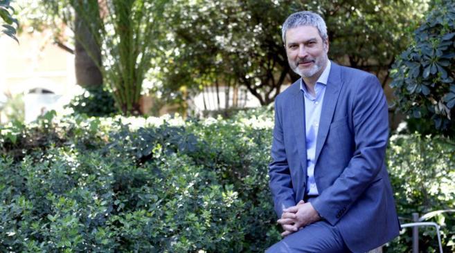 El presidente de Societat Civil Catalana, Josep Ramon Bosch, durante...