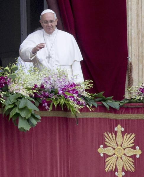 El Papa Francisco durante el tradicional discurso Urbi et Orbi.