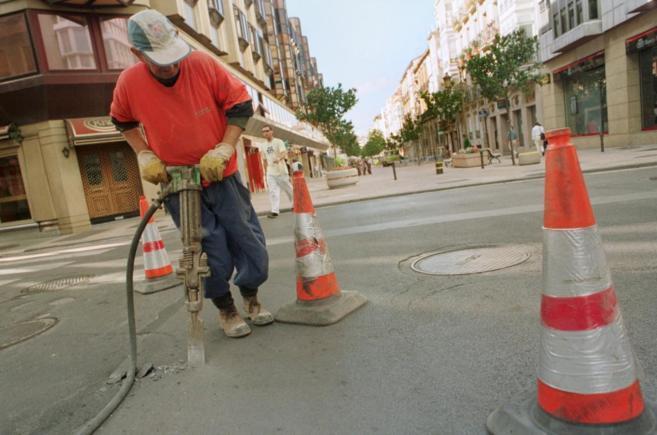 Obras de instalación de fibra óptica