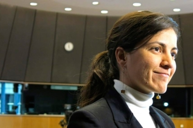 Rosa María Payá, en el Parlamento Europeo.