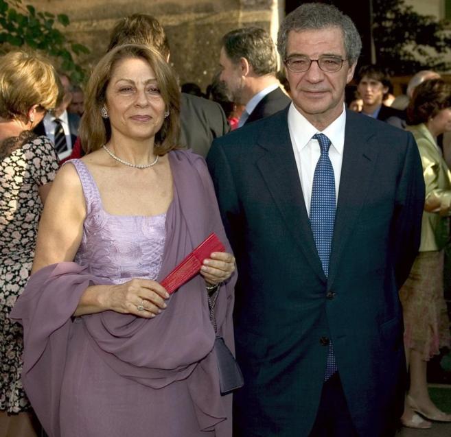 Ana Cristina Placer junto a su marido César Alierta, presidente de...