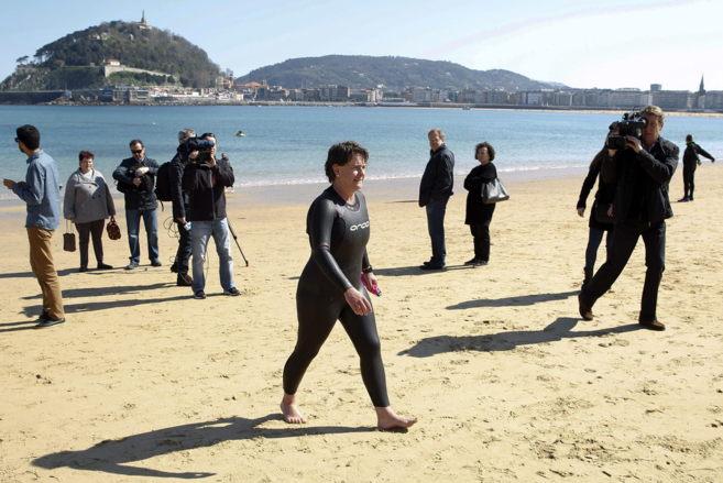 La candidata del PP a la Alcaldía de San Sebastián, Miren Albistur.