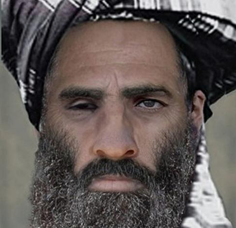 En la imagen, el mulá Omar.