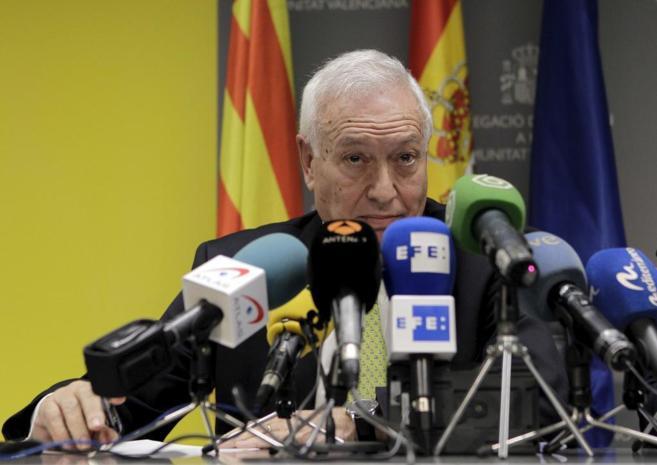 José Manuel García-Margallo, en rueda de prensa.