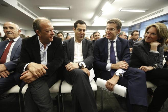 Monago, Moreno, Feijóo y Quiroga en la Junta Directiva Nacional.