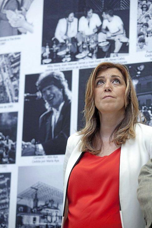 Susana Díaz, este martes en la inauguración de una exposición.