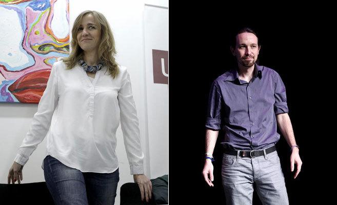 Tania Sánchez y Pablo Iglesias.