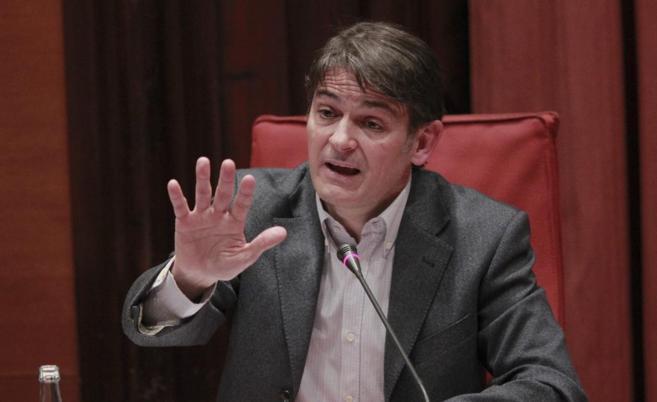 Oriol Pujol, en su comparecencia en el Parlament.