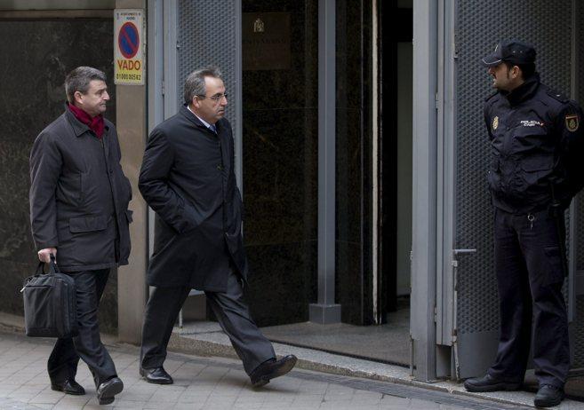 Vicente Cotino, en su declaración en la Audiencia Nacional por el...