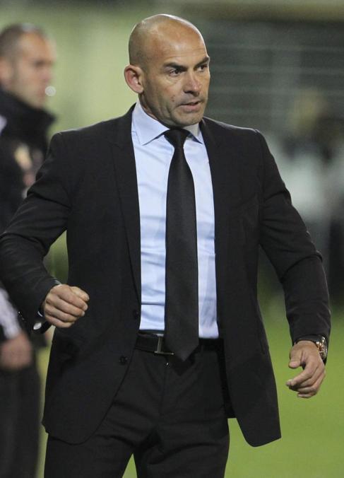 Paco Jémez, durante un partido de esta temporada.
