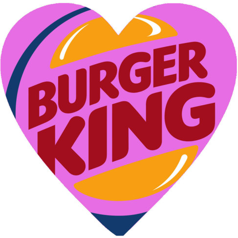 Un corazón con el logo de Burger King. Ilustración: Guillermo del...