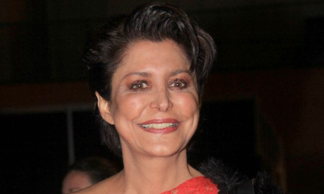 María Pineda en una de sus últimas apariciones públicas