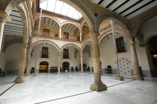 Patio del centro cultural Baños Árabes de Jaén.
