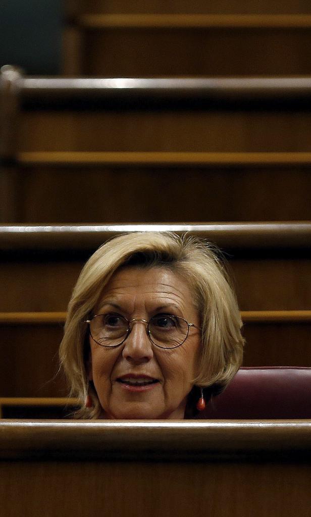 Rosa Díez, en el Congreso
