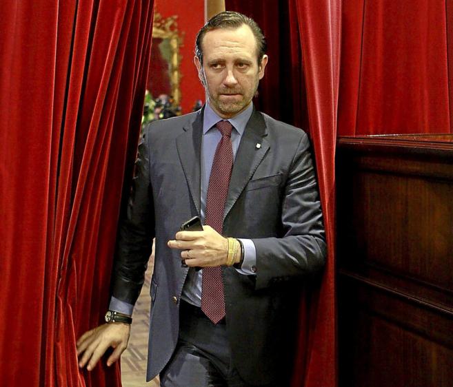 El presidente de Baleares José Ramón Bauzá, el mes pasado en el...