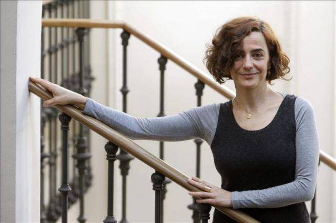 La escritora madrileña Nuria Barrios tras una entrevista.