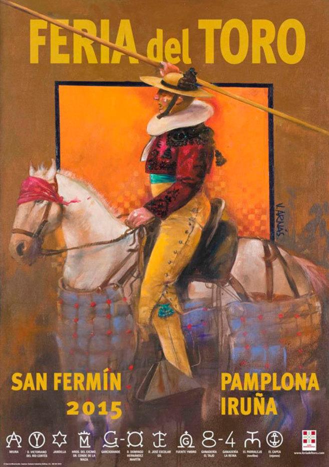 Cartel para la feria de San Fermín obra del artista madrileño...