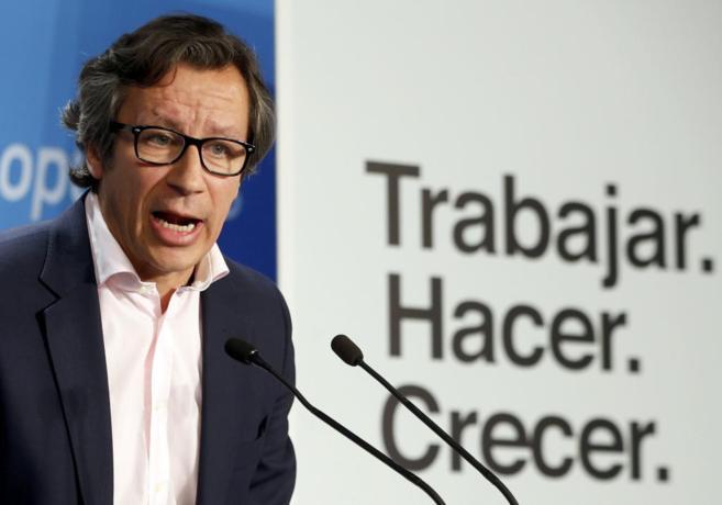 Carlos Floriano, en la presentación del lema del PP.