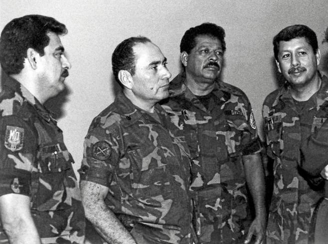 Los militares René Ponce, Rafael Larios, Inocente Montano y Juan...