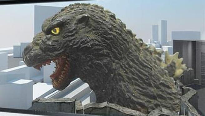 Recreación de cómo luce la escultura de la cabeza del reptil...