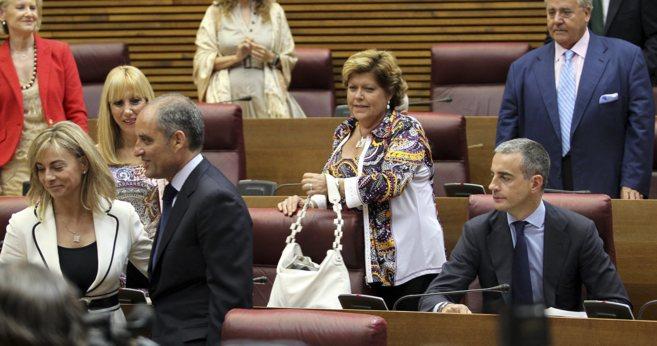 Cinco de los 11 diputados imputados que llegó a tener las Cortes,...