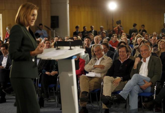 María Dolores de Cospedal, durante la presentación del programa...