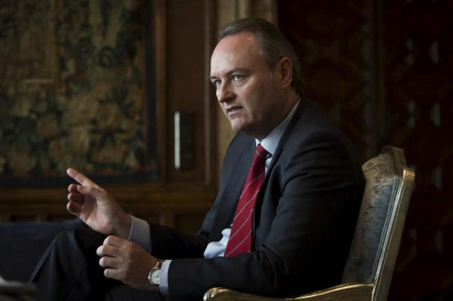 El presidente de la Generalitat Valenciana, Alberto Fabra, durante una...