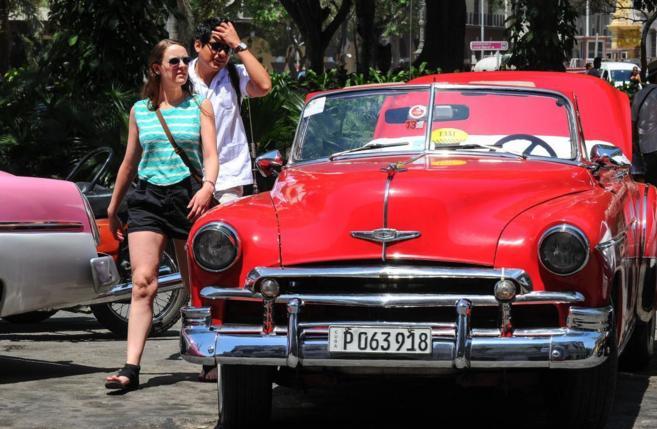 Turistas estadounidenses en La Habana