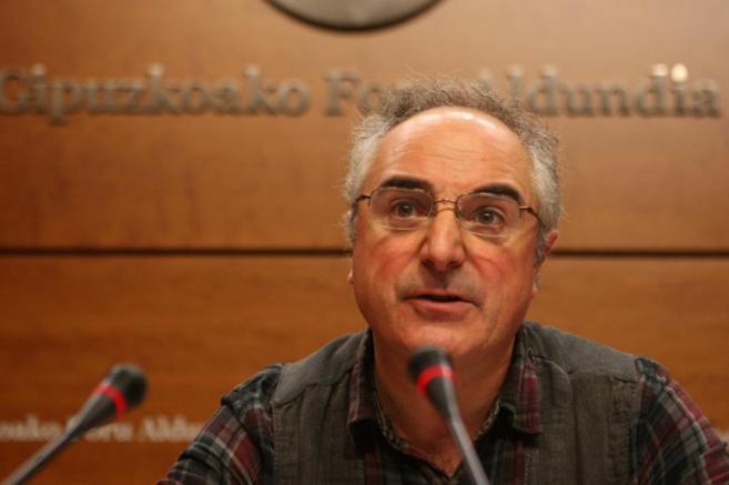 Xabier Olano, candidato a diputado general de Guipúzcoa de la...