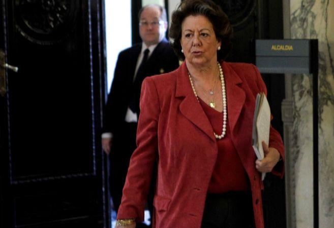 La alcaldesa de Valencia, Rita Barberá, en el Ayuntamiento.