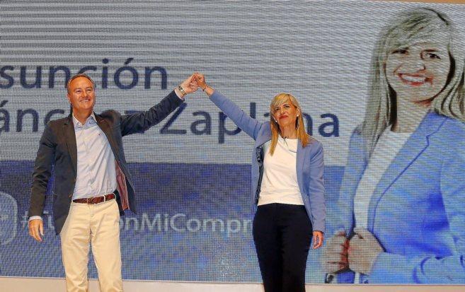 Alberto Fabra, y la candidata del PP por Alicante, Asunción Sánchez...