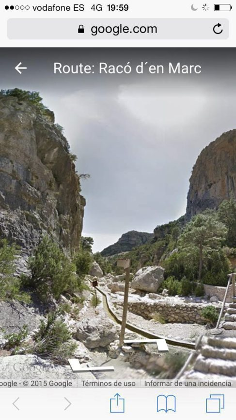 Una de las rutas que se puede reseguir por Google Street View.