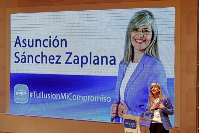 Sánchez Zaplana, ayer, en su intervención.