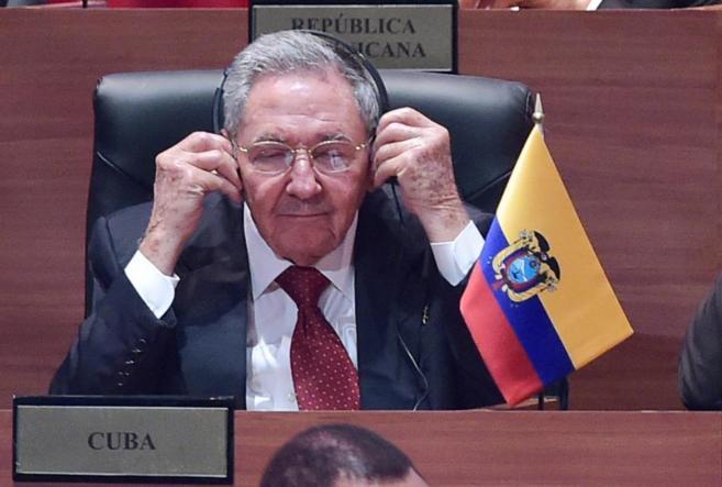 El presidente cubano Raúl Castro, en la Cumbre de las Américas.