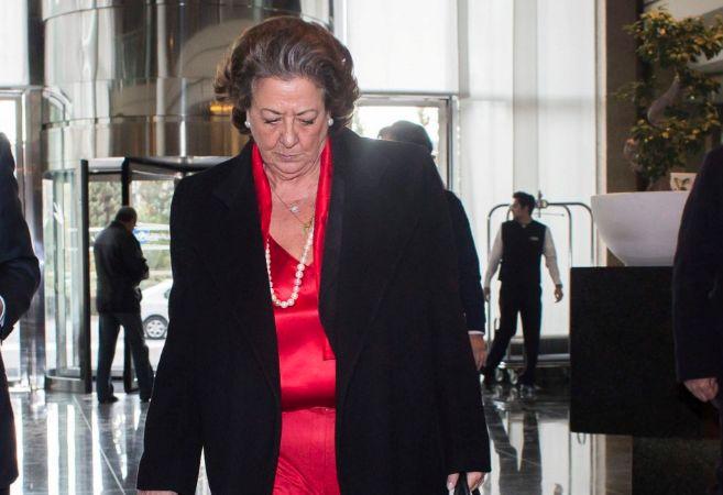 Rita Barberá en un acto reciente con empresarios en Valencia.