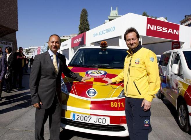 Marco Toro (Nissan Iberia) y  Fernando Prados (Samur-Protección...