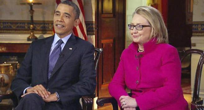 Entrevista en la cadena CBS a Obama y Hillary Clinton en el año 2013.