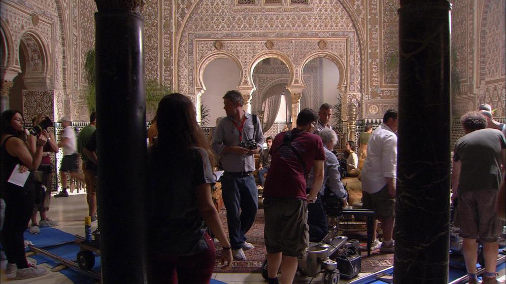 Rodaje de la serie en el Alcázar de Sevilla.