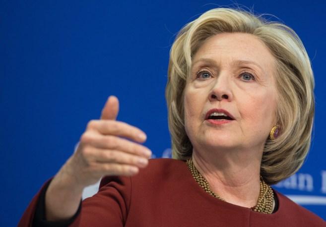 La ex secretaria de Estado estadounidense Hillary Clinton en...