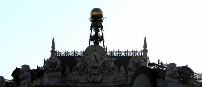 Fachada de la sede central del Banco de España.